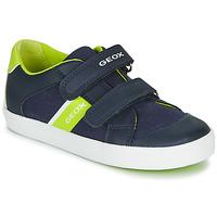 Sapatos Rapaz Sapatilhas Geox B GISLI BOY Marinho / Verde