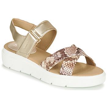 Sapatos Mulher Sandálias Geox D TAMAS Ouro / Toupeira