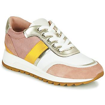 Sapatos Mulher Sapatilhas Geox D TABELYA Rosa / Branco / Amarelo