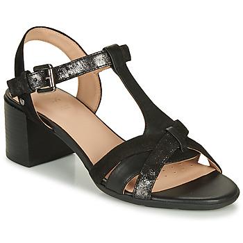 Sapatos Mulher Sandálias Geox D MARYKARMEN MID SAN Preto