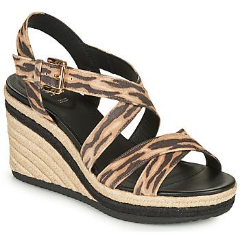 Sapatos Mulher Sandálias Geox D PONZA Castanho / Preto