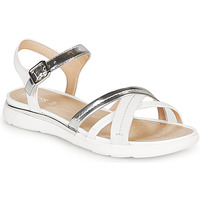 Sapatos Mulher Sandálias Geox D SANDAL HIVER Prata / Branco