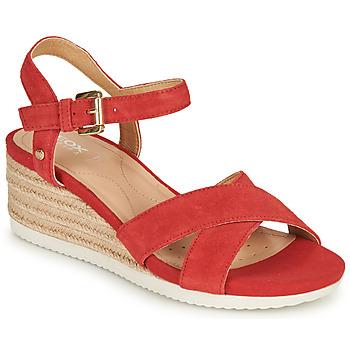 Sapatos Mulher Sandálias Geox D ISCHIA CORDA Vermelho