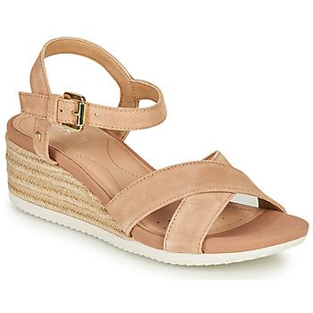Sapatos Mulher Sandálias Geox D ISCHIA CORDA Bege