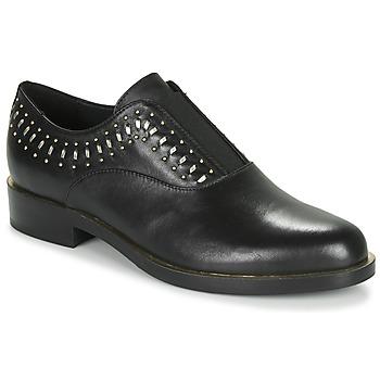 Sapatos Mulher Sapatos Geox D BROGUE S Preto / Ouro