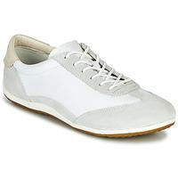 Sapatos Mulher Sapatilhas Geox D VEGA Branco / Cinza
