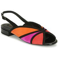 Sapatos Mulher Sandálias Geox D WISTREY SANDALO Preto / Vermelho / Rosa