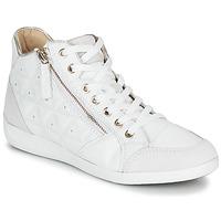 Sapatos Mulher Sapatilhas de cano-alto Geox D MYRIA Branco