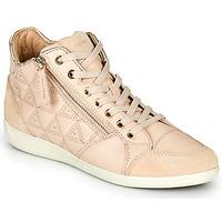 Sapatos Mulher Sapatilhas de cano-alto Geox D MYRIA Bege