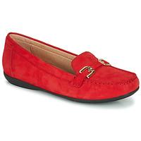 Sapatos Mulher Mocassins Geox D ANNYTAH MOC Vermelho / Ouro