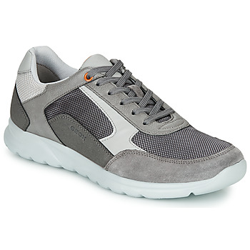 Sapatos Homem Sapatilhas Geox U ERAST Cinza / Branco / Laranja