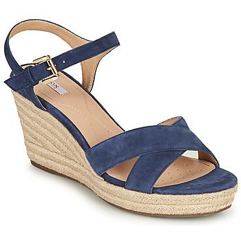 Sapatos Mulher Sandálias Geox D SOLEIL Azul