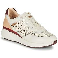 Sapatos Mulher Sapatilhas Pikolinos SELLA W6Z Branco / Bordô