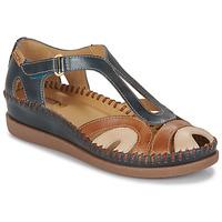 Sapatos Mulher Sandálias Pikolinos CADAQUES W8K Azul / Camel