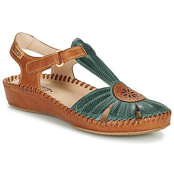 Sapatos Mulher Sandálias Pikolinos P. VALLARTA 655 Camel / Verde