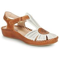 Sapatos Mulher Sandálias Pikolinos P. VALLARTA 655 Branco / Camel