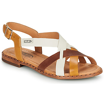 Sapatos Mulher Sandálias Pikolinos ALGAR W0X Conhaque / Branco / Amarelo