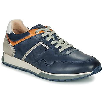 Sapatos Homem Sapatilhas Pikolinos CAMBIL M5N Conhaque / Marinho