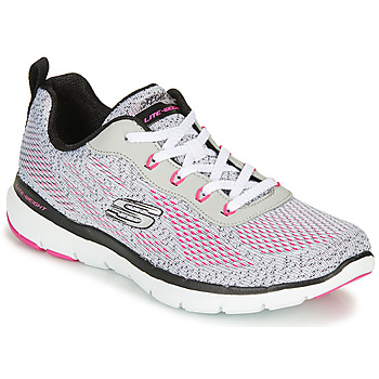 Sapatos Mulher Fitness / Training  Skechers FLEX APPEAL 3.0 Cinza / Rosa