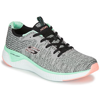 Sapatos Mulher Fitness / Training  Skechers SOLAR FUSE BRISK ESCAPE Cinza / Verde / Rosa