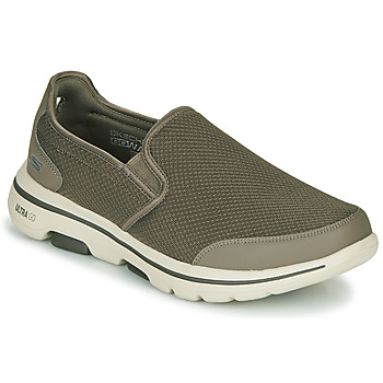Sapatos Homem Slip on Skechers GO WALK 5 Cáqui