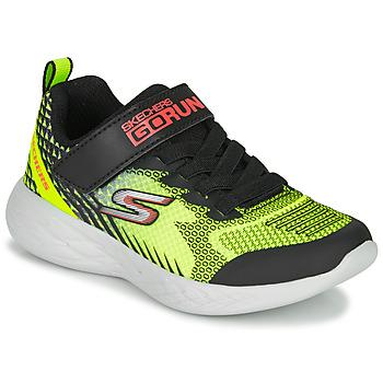 Sapatos Rapaz Multi-desportos Skechers GO RUN 600 BAXTUX Preto / Amarelo