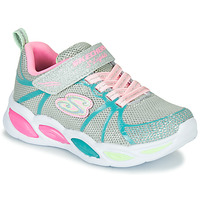 Sapatos Rapariga Multi-desportos Skechers SHIMMER BEAMS Prata / Rosa / Azul