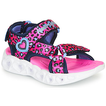 Sapatos Rapariga Sandálias desportivas Skechers HEART LIGHTS Rosa / Preto