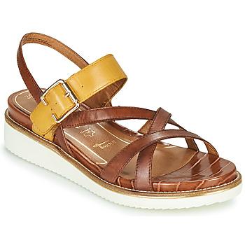 Sapatos Mulher Sandálias Tamaris EDA Castanho / Amarelo
