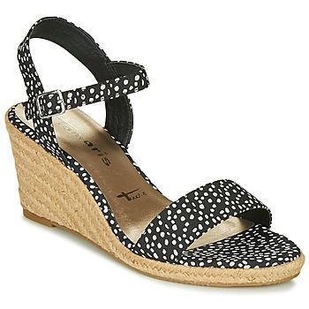 Sapatos Mulher Sandálias Tamaris LIVIA Preto / Branco