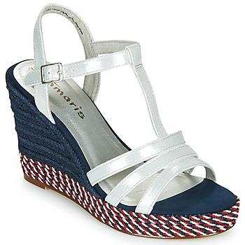 Sapatos Mulher Sandálias Tamaris CYNARA Branco / Marinho / Vermelho