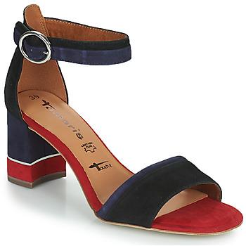 Sapatos Mulher Sandálias Tamaris DALINA Marinho / Vermelho