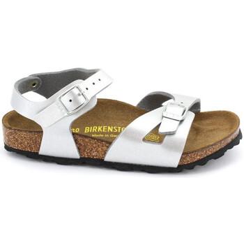 Sapatos Rapariga Sandálias Birkenstock RIO Argent