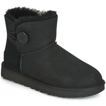 Sapatos Mulher Botas de neve UGG BAILEY BUTTON Noir