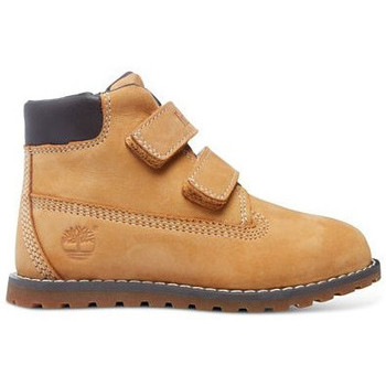 Sapatos Criança Botas baixas Timberland pokey pine hook-et-loop Marron