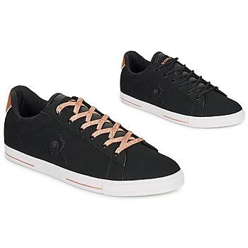 Sapatos Mulher Sapatilhas Le Coq Sportif AGATE METALLIC Preto / Dourado