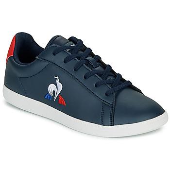 Sapatos Criança Sapatilhas Le Coq Sportif COURTSET GS Marinho / Vermelho