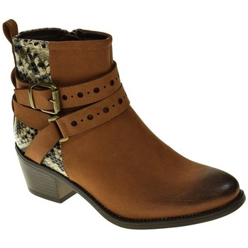 Sapatos Mulher Botins Isteria 9222 Marrón