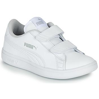 Sapatos Criança Sapatilhas Puma Puma Smash v2 L V PS Branco