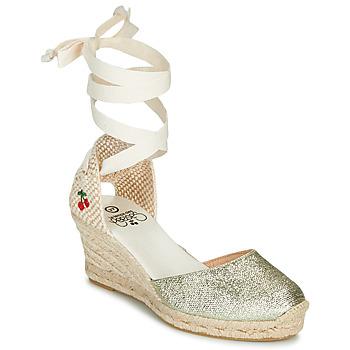 Sapatos Mulher Sandálias Le Temps des Cerises POLY Ouro
