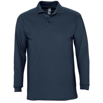 Textil Homem Polos mangas compridas Sols WINTER 2 CASUAL MEN Azul