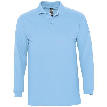 Textil Homem Polos mangas compridas Sols WINTER 2 MEN Azul