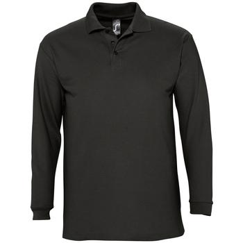 Textil Homem Polos mangas compridas Sols WINTER 2 CASUAL MEN Negro