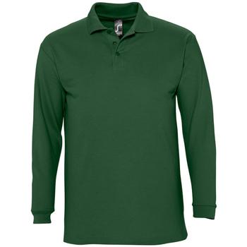 Textil Homem Polos mangas compridas Sols WINTER 2 CASUAL MEN Verde