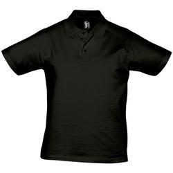 Textil Homem Polos mangas curta Sols PRESCOTT CASUAL DAY Negro