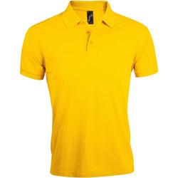 Textil Homem Polos mangas curta Sols PRIME ELEGANT MEN Amarillo