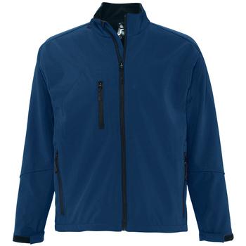 Textil Homem Jaquetas Sols RELAX SOFTSHELL Azul
