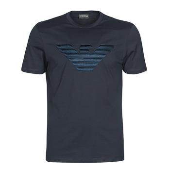 Textil Homem T-Shirt mangas curtas Emporio Armani DOUNIA Marinho