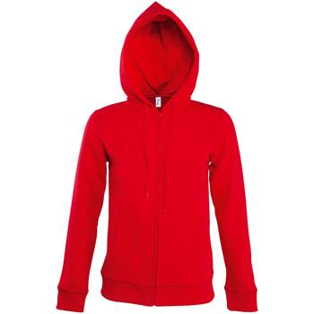 Textil Mulher Casacos fato de treino Sols SEVEN KANGAROO WOMEN Rojo
