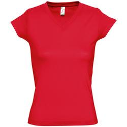 Textil Mulher T-Shirt mangas curtas Sols MOON COLORS GIRL Rojo